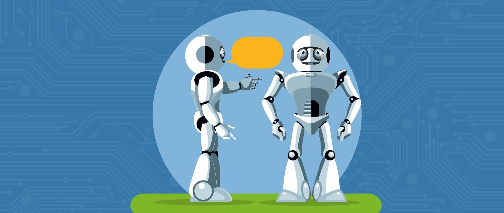 Unterhalten sich zwei Roboter